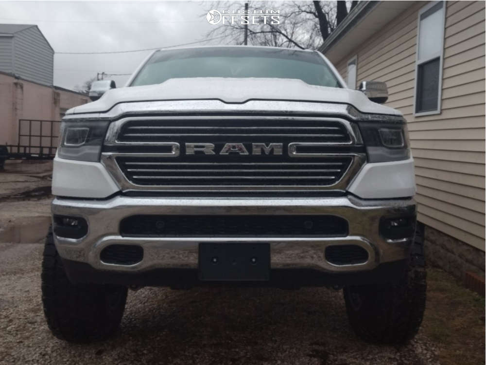 """2019 Ram 1500 Super Aggressive 3""""-5"""" on 20x12 -44 offset Moto Metal Mo981 & 37""""x13.5"""" Fury Offroad Country Hunter Mt on Suspension Lift 8"""" - Custom Offsets Gallery"""