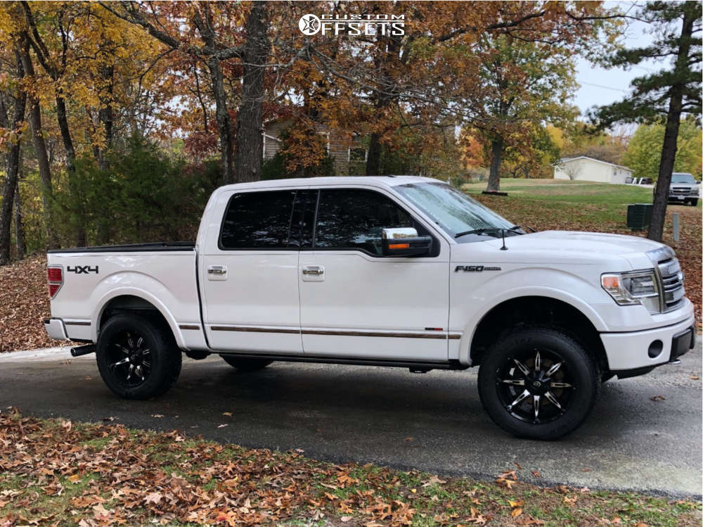 """2014 Ford F-150 Aggressive > 1"""" outside fender on 20x10 -25 offset Vision Manic and 275""""x60"""" Dick Cepek Trail Country on Leveling Kit - Custom Offsets Gallery"""