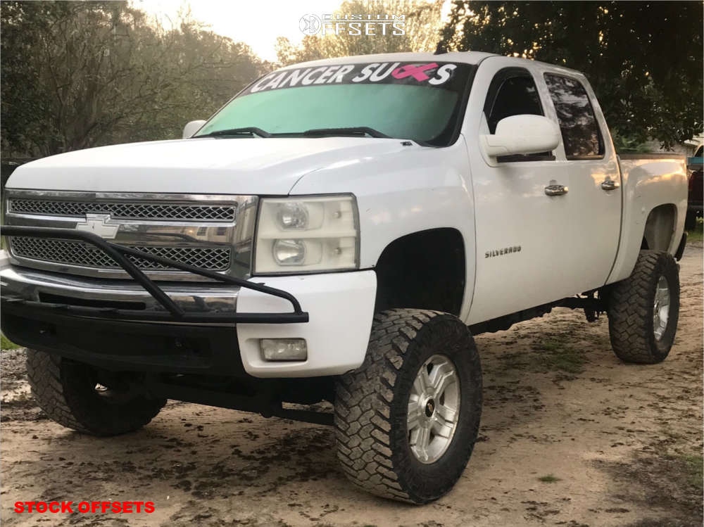 """2010 Chevrolet Silverado 1500 Aggressive > 1"""" outside fender on 18x8 31 offset Spaced Out Stockers Spaced Out Stockers and 35""""x12.5"""" Nitto Trail Grappler on Suspension Lift 6"""" & Body 3"""" - Custom Offsets Gallery"""