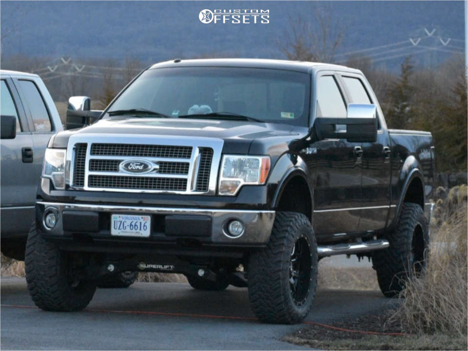 """2009 Ford F-150 Aggressive > 1"""" outside fender on 20x10 -24 offset Fuel Vandal and 35""""x12.5"""" Atturo Trail Blade Mt on Suspension Lift 6"""" - Custom Offsets Gallery"""