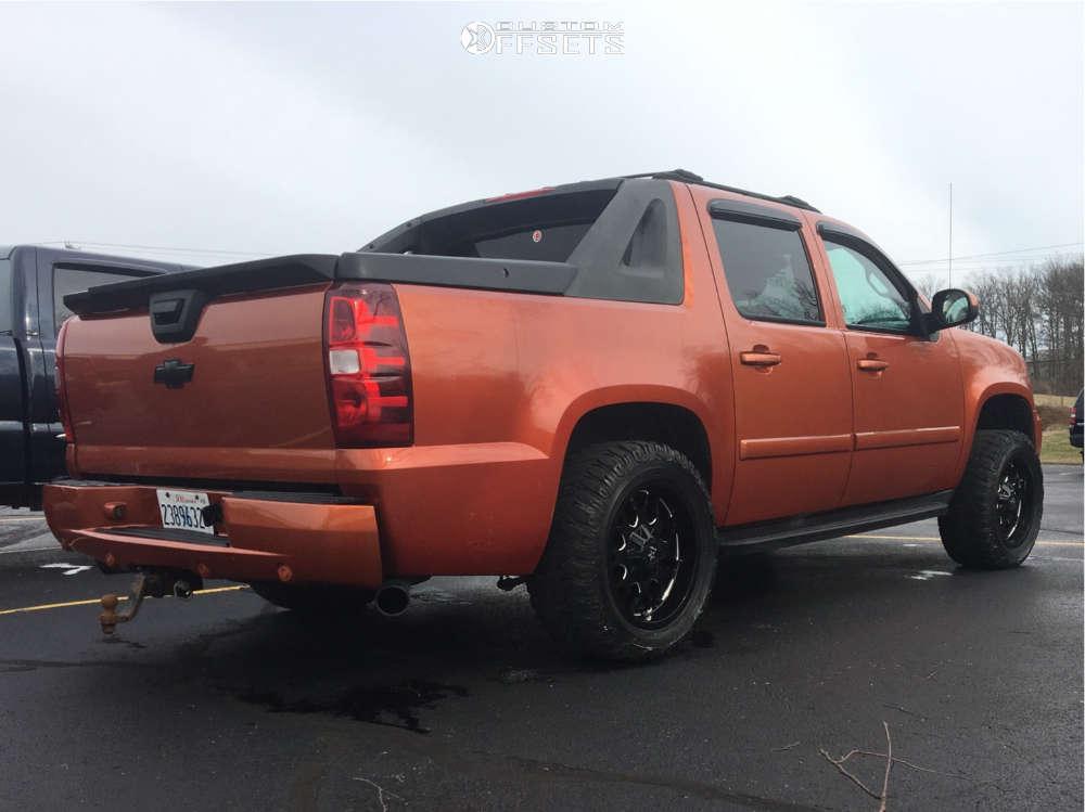 "2007 Chevrolet Avalanche Aggressive > 1"" outside fender on 20x10 -25 offset RBP 73r & 33""x12.5"" Cooper Discoverer Stt on Suspension Lift 2.5"" - Custom Offsets Gallery"