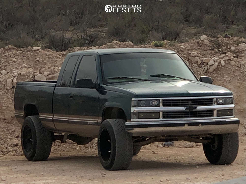 """1997 Chevrolet C2500 Aggressive > 1"""" outside fender on 20x12 -51 offset Vision Prowler and 305/50 Nitto Nt420s on Suspension Lift 4"""" - Custom Offsets Gallery"""