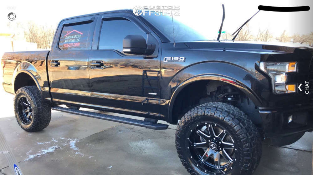 """2016 Ford F-150 Aggressive > 1"""" outside fender on 20x10 -19 offset Hostile Alpha and 35""""x12.5"""" Nitto Ridge Grappler on Suspension Lift 6"""" - Custom Offsets Gallery"""