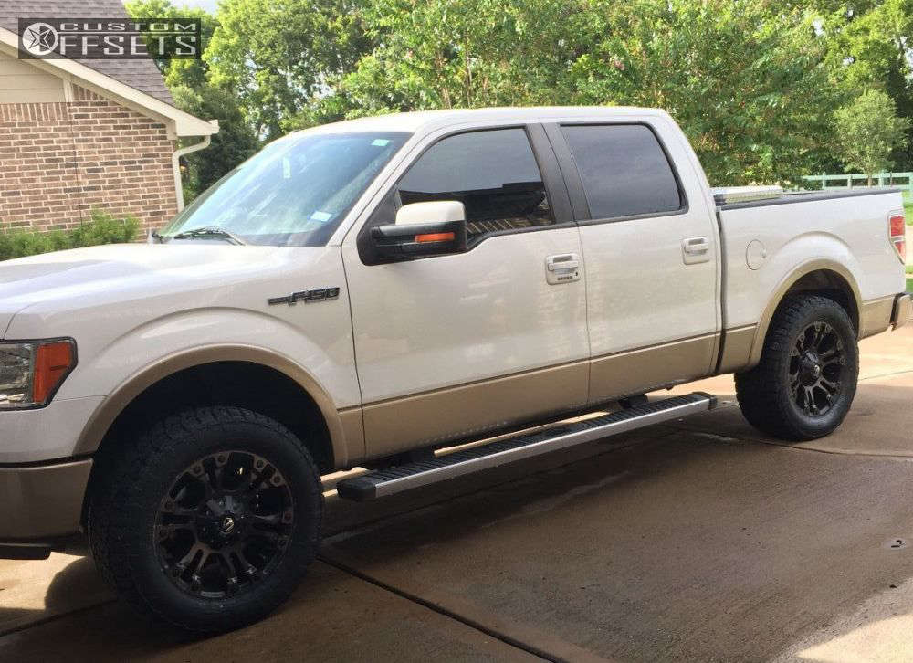 """2012 Ford F-150 Aggressive > 1"""" outside fender on 20x9 1 offset Fuel Vapor and 305/55 Nitto Terra Grappler G2 on Leveling Kit - Custom Offsets Gallery"""