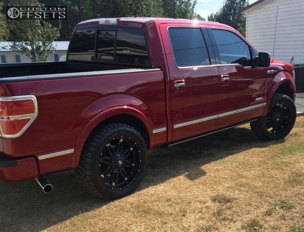 2013 Ford F-150  on 20x9 1 offset Fuel Hostage and 305/50 Nitto Terra Grappler G2 on Leveling Kit - Custom Offsets Gallery