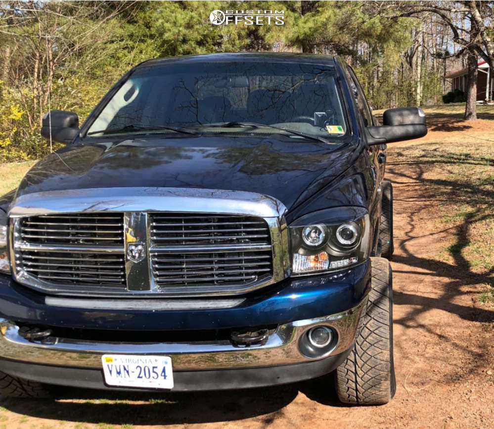 "2007 Dodge Ram 2500 Aggressive > 1"" outside fender on 20x10 -16 offset Hostile Sprocket & 305/50 Nitto Nt420s on Stock Suspension - Custom Offsets Gallery"