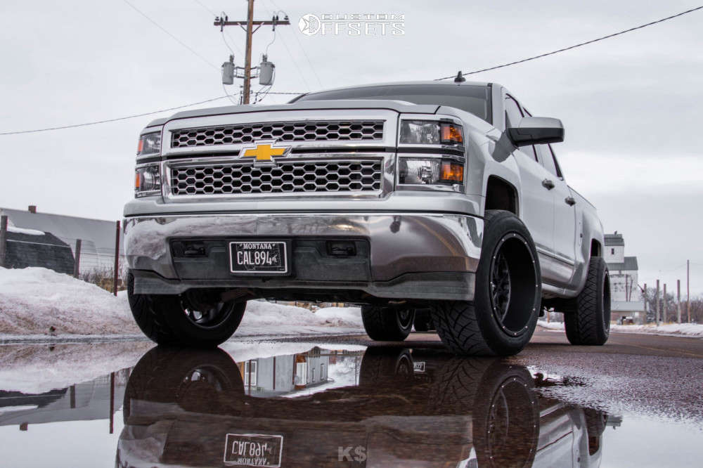 """2015 Chevrolet Silverado 1500 Aggressive > 1"""" outside fender on 20x12 -51 offset Vision Rocker & 305/50 Nitto Nt420s on Level 2"""" Drop Rear - Custom Offsets Gallery"""