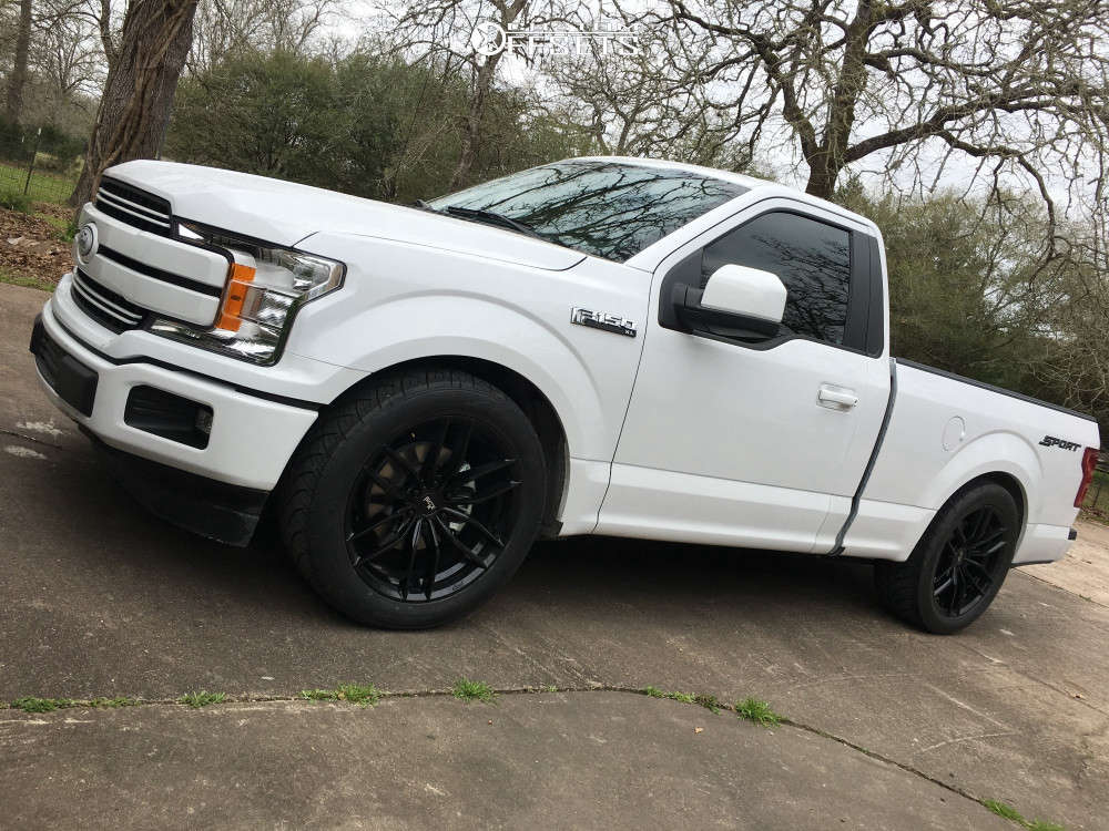 2019 Ford F-150 Flush on 22x9.5 30 offset Niche Vosso & 285/45 Nitto NT420S on Lowered 3F / 5R - Custom Offsets Gallery
