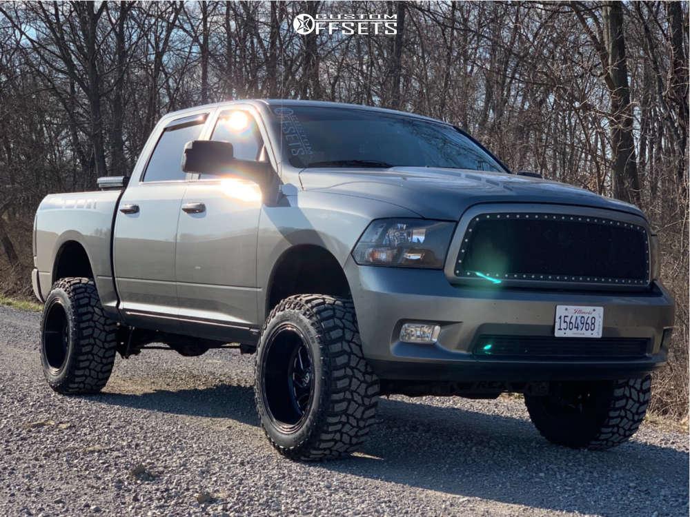 "2010 Dodge Ram 1500 Aggressive > 1"" outside fender on 20x12 -43 offset Fuel Triton & 35""x12.5"" Cooper Discoverer Stt Pro on Suspension Lift 6"" - Custom Offsets Gallery"