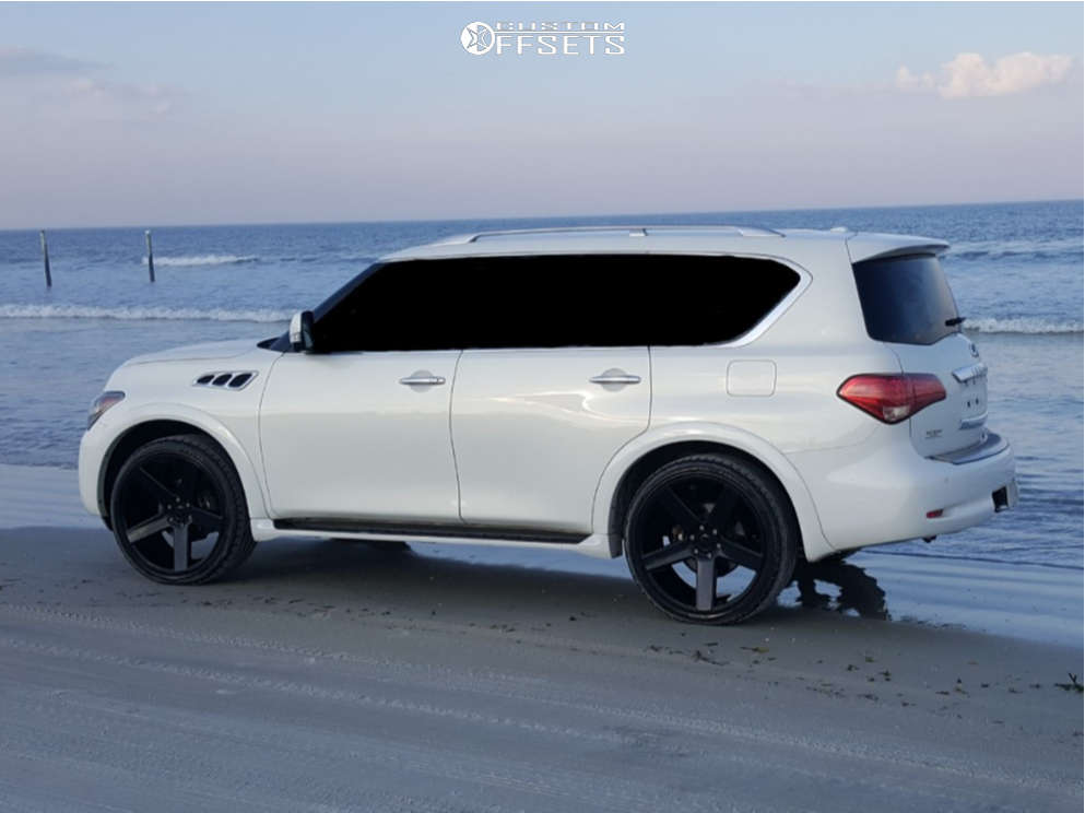 """2013 Infiniti QX56 Aggressive > 1"""" outside fender on 24x10 31 offset Dub Baller and 295/35 Landsail Ls588 on Air Suspension - Custom Offsets Gallery"""