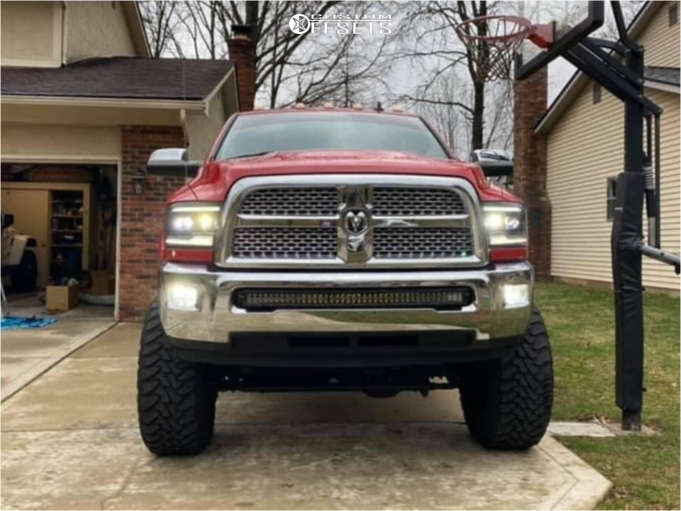 """2015 Ram 2500 Aggressive > 1"""" outside fender on 22x12 -44 offset Havok H109 & 37""""x13.5"""" Toyo Tires Open Country M/T on Suspension Lift 6.5"""" - Custom Offsets Gallery"""