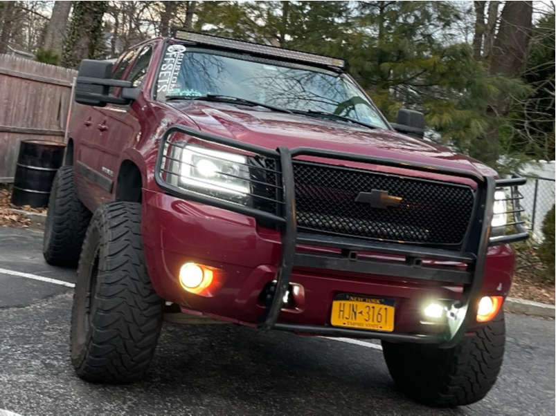 """2007 Chevrolet Avalanche Super Aggressive 3""""-5"""" on 17x9 10 offset Tuff T10 & 37""""x13.5"""" Toyo Open Country Mt on Suspension Lift 7.5"""" - Custom Offsets Gallery"""