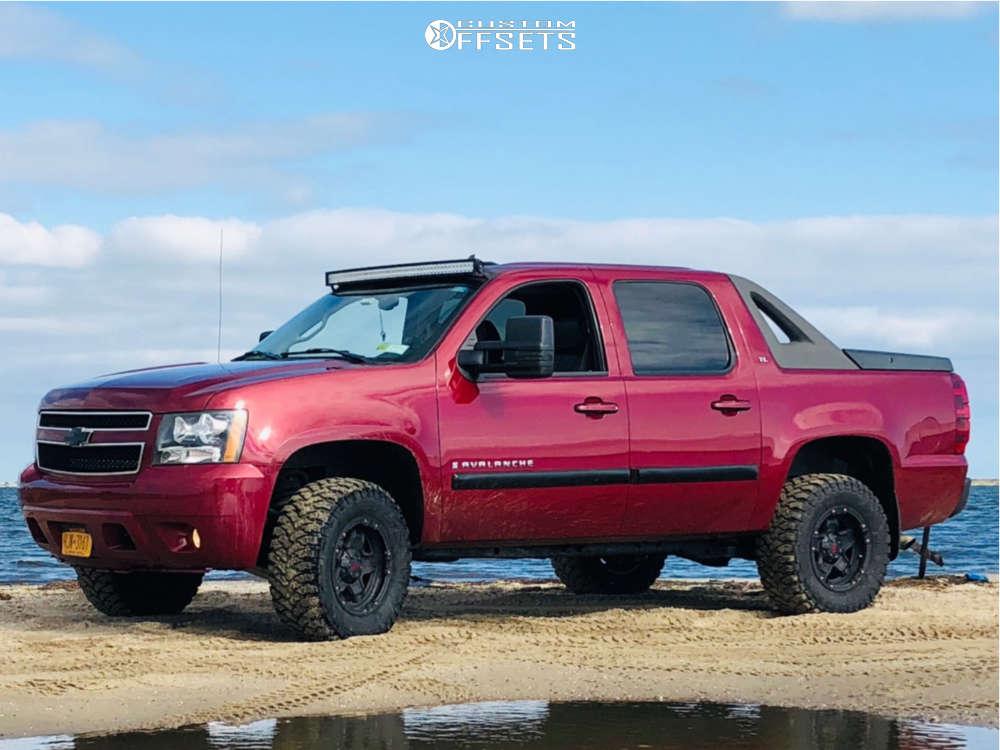 "2007 Chevrolet Avalanche Slightly Aggressive on 17x9 10 offset Tuff T10 & 33""x12.5"" RBP Repulsor Mt on Suspension Lift 3.5"" - Custom Offsets Gallery"