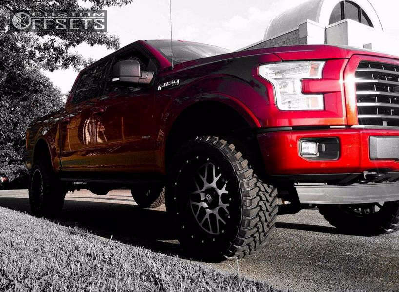 """2015 Ford F-150 Aggressive > 1"""" outside fender on 22x10 -24 offset XD XD820 and 35""""x12.5"""" Toyo Tires Open Country M/T on Suspension Lift 6"""" - Custom Offsets Gallery"""