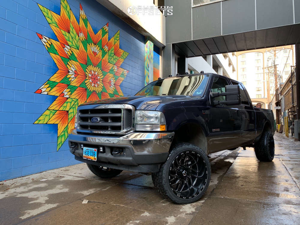 """2004 Ford F-350 Super Duty Super Aggressive 3""""-5"""" on 22x12 -44 offset TIS 544bm & 33""""x12.5"""" Radar Renegade A/t 5 on Leveling Kit - Custom Offsets Gallery"""
