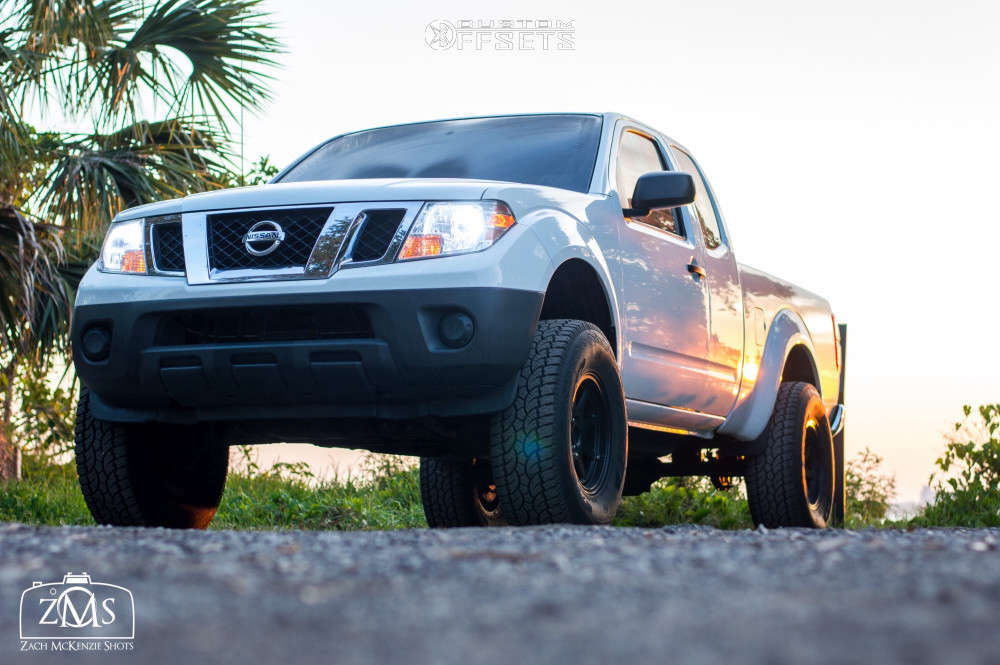"""2013 Nissan Frontier Slightly Aggressive on 16x8 0 offset Xd Xd301 & 285/75 Atturo Trail Blade At on Suspension Lift 6"""" - Custom Offsets Gallery"""