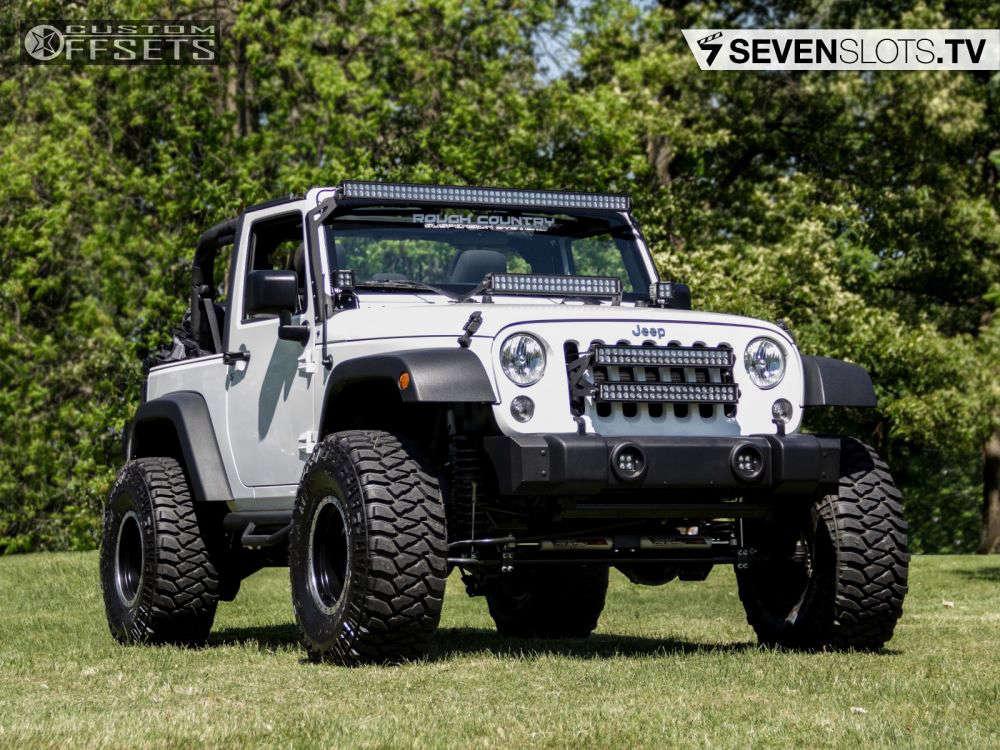 "2015 Jeep Wrangler Super Aggressive 3""-5"" on 15x10 -45 offset Mickey Thompson Classic Baja Lock & 35""x12.5"" Mickey Thompson Baja MTZ on Suspension Lift 4"" - Custom Offsets Gallery"