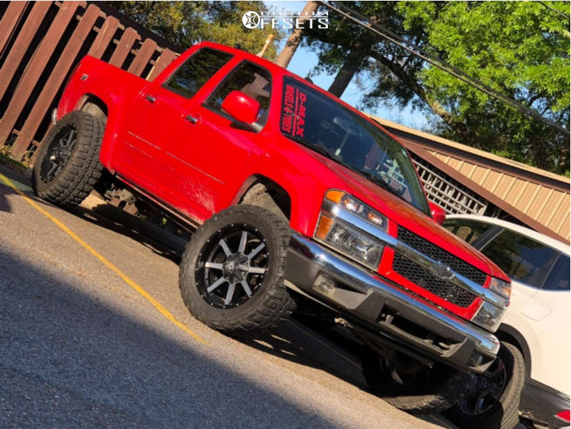 """2012 Chevrolet Colorado Super Aggressive 3""""-5"""" on 20x9 -12 offset Xtreme Mudder Xm-302 & 33""""x12.5"""" Federal Couragia Mt on Suspension Lift 2.5"""" - Custom Offsets Gallery"""