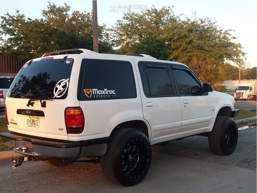 """1998 Ford Explorer Aggressive > 1"""" outside fender on 20x12 -44 offset Xf Offroad Xf-211 and 275/55 Nitto Terra Grappler G2 on Suspension Lift 4"""" - Custom Offsets Gallery"""
