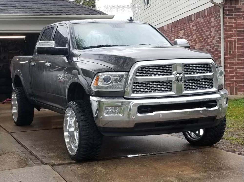 """2016 Ram 2500 Super Aggressive 3""""-5"""" on 24x12 -51 offset Fuel Forged Ff09 & 33""""x12.5"""" RBP Repulsor Mt on Leveling Kit - Custom Offsets Gallery"""