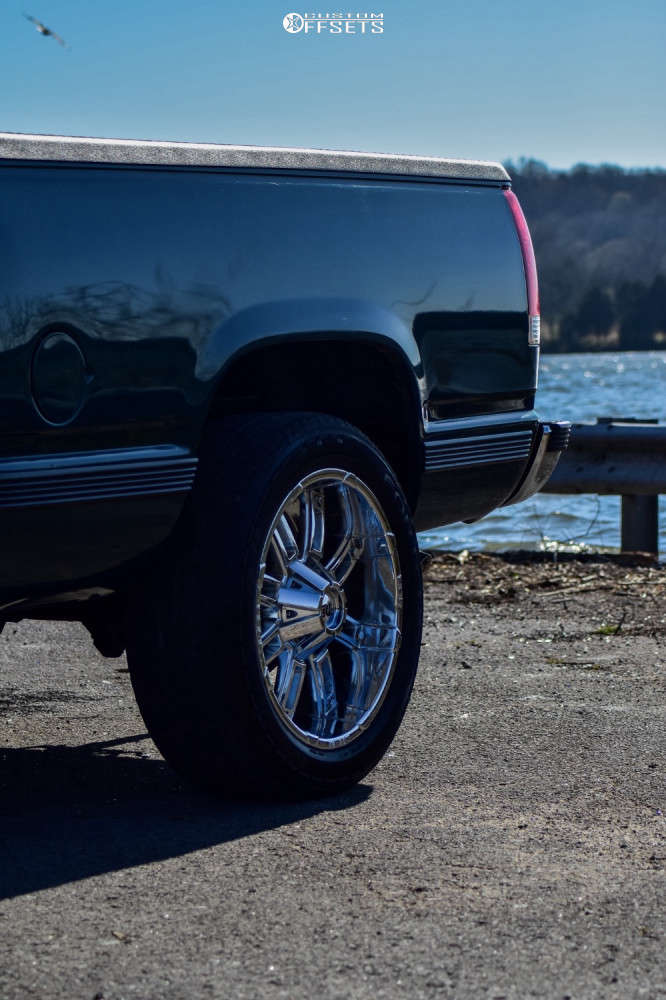 """1997 Chevrolet C1500 Tucked on 20x9 -12 offset Red Dirt Road Rd06 & 265/50 Goodyear Fortera Sl on Suspension Lift 2.5"""" - Custom Offsets Gallery"""