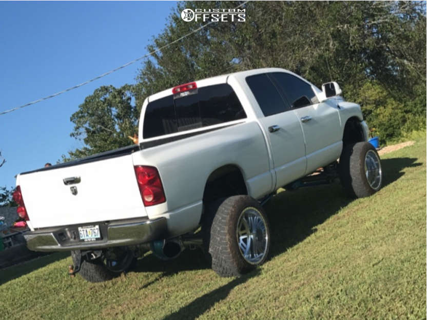 """2007 Dodge Ram 2500 Super Aggressive 3""""-5"""" on 22x14 -73 offset American Force Vector Fp & 35""""x13.5"""" Fuel Gripper At on Suspension Lift 6"""" - Custom Offsets Gallery"""