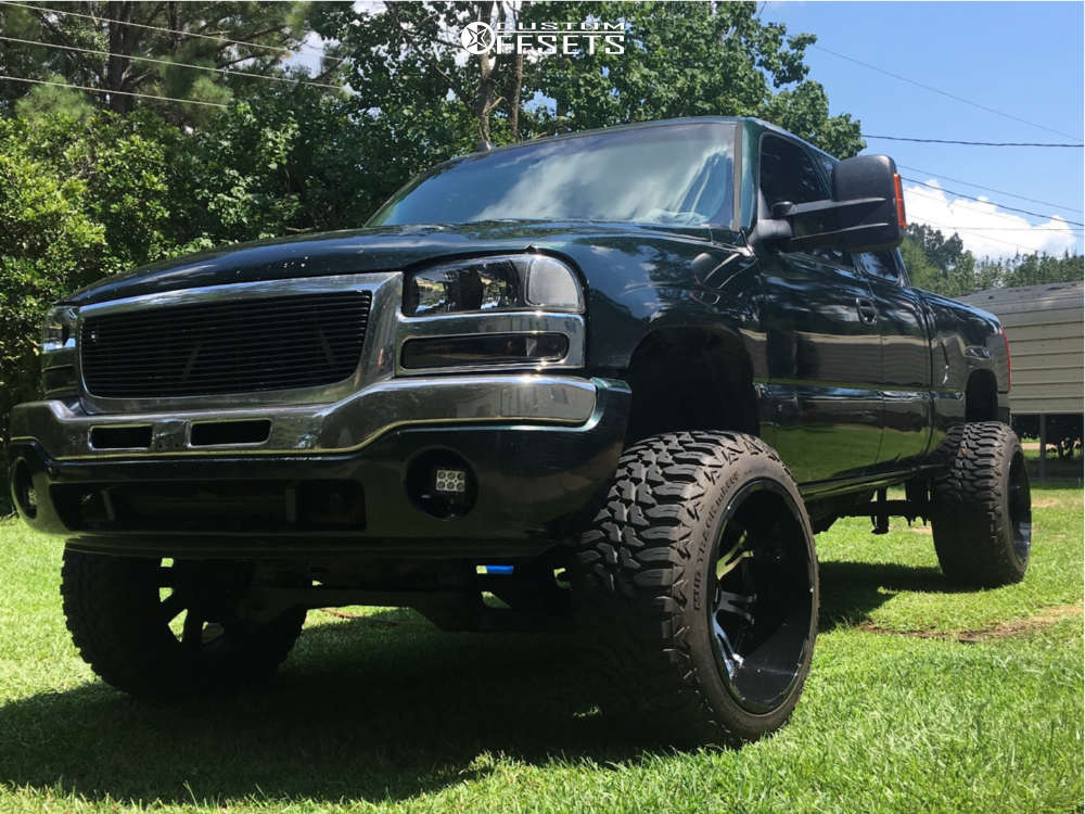 """2005 GMC Savana 1500 Super Aggressive 3""""-5"""" on 22x14 -76 offset American Truxx Bomb and 35""""x12.5"""" Mile King Mk868 Mud Champ on Suspension Lift 9"""" - Custom Offsets Gallery"""