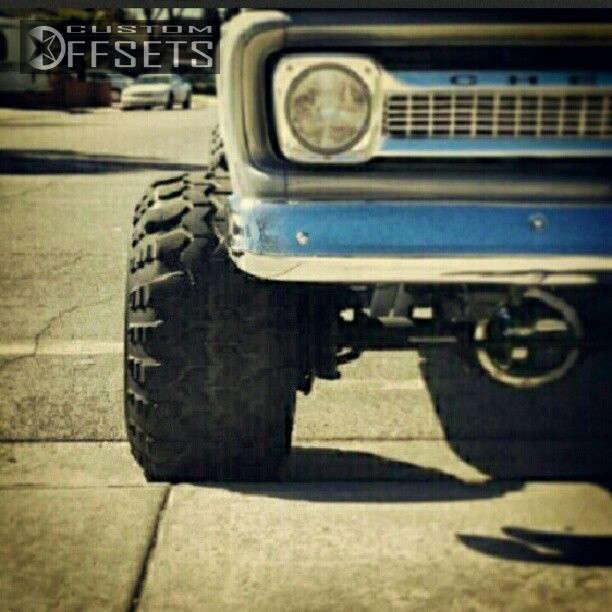 "1964 Chevrolet K10 Pickup Hella Stance >5"" on 15x14 -101.6 offset Bart Super Trucker and 33""x14"" Super Swamper TSL Bogger on Suspension Lift 4"" - Custom Offsets Gallery"