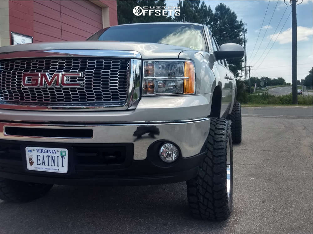 """2009 GMC Sierra 1500 Super Aggressive 3""""-5"""" on 20x10 -25 offset Dropstars 655c & 35""""x12.5"""" Cooper Discoverer S/t Maxx on Suspension Lift 7.5"""" - Custom Offsets Gallery"""