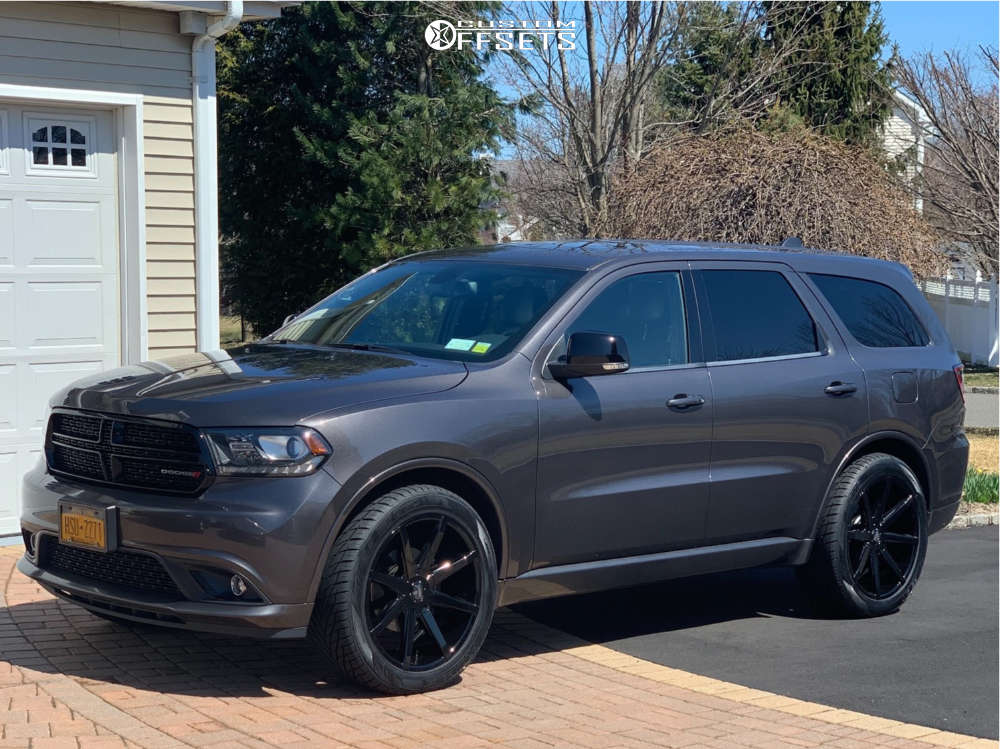 2014 Dodge Durango Slightly Aggressive on 22x9.5 32 offset DUB Push and 285/45 Toyo Tires Proxes S/t on Stock Suspension - Custom Offsets Gallery