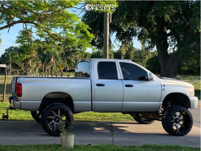 """2007 Dodge Ram 2500 Super Aggressive 3""""-5"""" on 24x14 -76 offset American Truxx At162 & 35""""x13.5"""" Fury Offroad Country Hunter Mt on Suspension Lift 8"""" - Custom Offsets Gallery"""