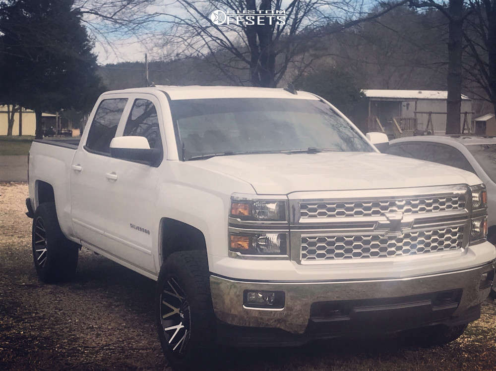 """2015 Chevrolet C1500 Aggressive > 1"""" outside fender on 20x10 -24 offset Dropstars 654mb and 275/55 Nitto Terra Grappler G2 on Leveling Kit - Custom Offsets Gallery"""