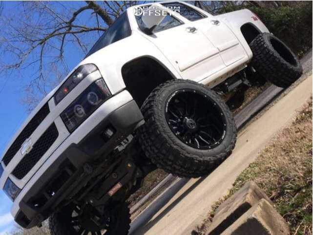 """2005 Chevrolet Colorado Super Aggressive 3""""-5"""" on 20x12 -44 offset Anthem Off-Road Equalizer & 33""""x12.5"""" Federal Couragia Mt on Suspension Lift 7.5"""" - Custom Offsets Gallery"""