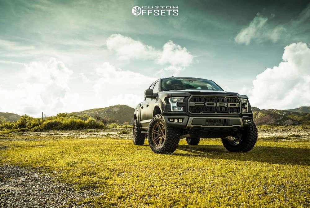 "2018 Ford Raptor Aggressive > 1"" outside fender on 20x9 12 offset VenomRex Vr602 & 37""x13.5"" BFGoodrich Mud-terrain T/a Km3 on Suspension Lift 3.5"" - Custom Offsets Gallery"