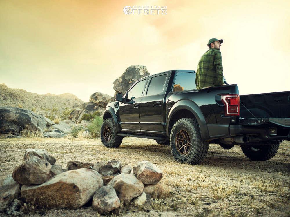 "2018 Ford Raptor Slightly Aggressive on 17x9 12 offset VenomRex Vr602 & 37""x12.5"" BFGoodrich Mud-terrain T/a Km3 on Suspension Lift 3.5"" - Custom Offsets Gallery"