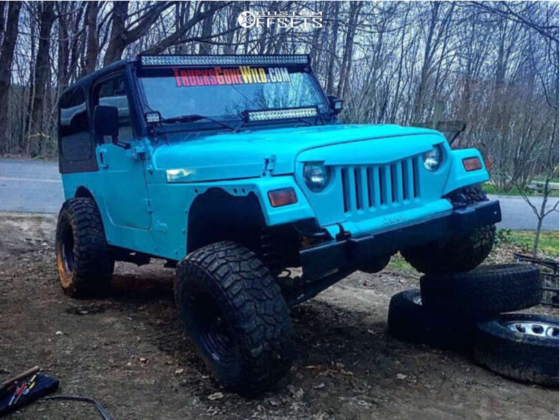 """2001 Jeep TJ Super Aggressive 3""""-5"""" on 15x8 -19 offset American Racing Baja & 32""""x11.5"""" Mud Claw Extreme M/t on Suspension Lift 2.5"""" - Custom Offsets Gallery"""