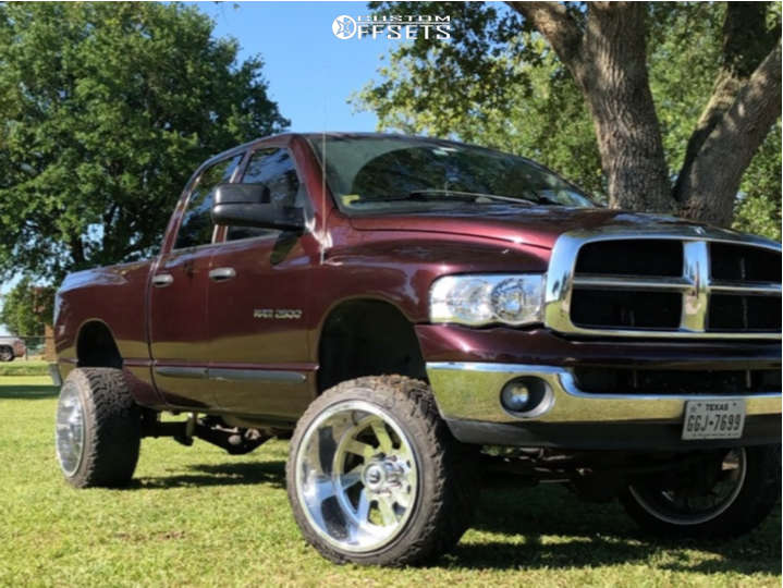 """2005 Dodge Ram 2500 Super Aggressive 3""""-5"""" on 22x14 -76 offset Fuel Forged Ff03 & 33""""x12.5"""" Fuel Mud Gripper on Suspension Lift 4"""" - Custom Offsets Gallery"""