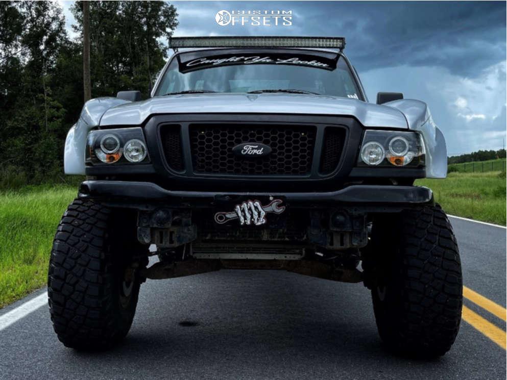 "2005 Ford Ranger Super Aggressive 3""-5"" on 15x12 -63 offset Black Rock Type 8 & 35""x12.5"" BFGoodrich Mud-terrain T/a Km3 on Suspension Lift 7"" - Custom Offsets Gallery"