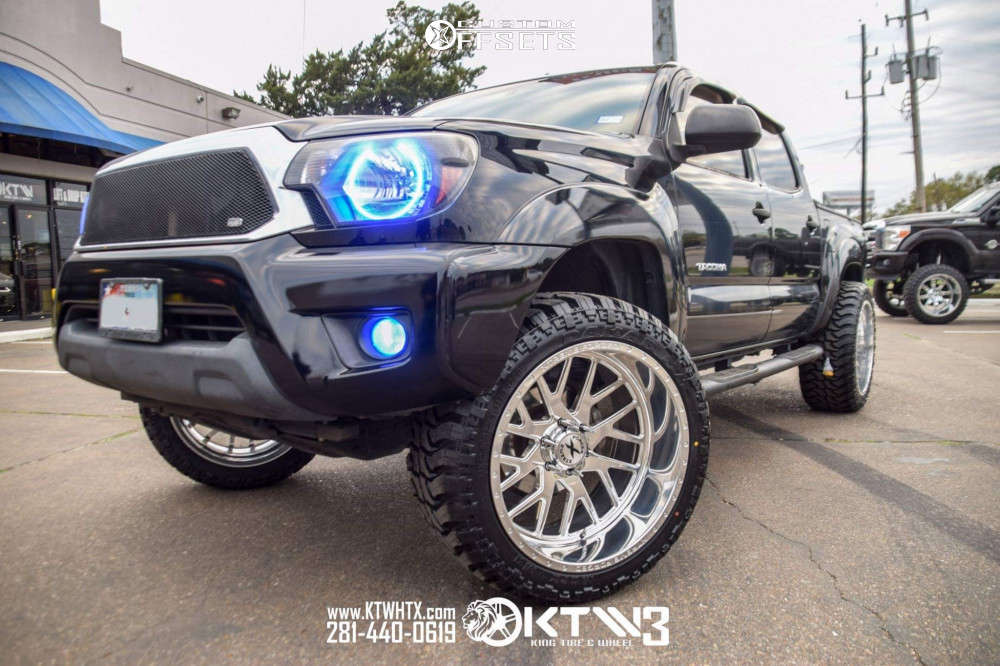 """2012 Toyota Tacoma Super Aggressive 3""""-5"""" on 22x12 -44 offset Xtreme Forged LN03 & 33""""x12.5"""" Mark Ma Darkar Mt3 on Suspension Lift 6"""" - Custom Offsets Gallery"""