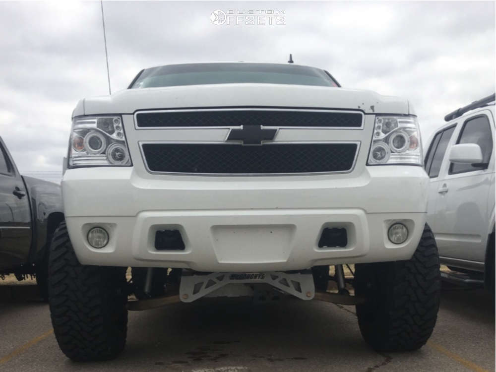 """2007 Chevrolet Avalanche Super Aggressive 3""""-5"""" on 20x12 -44 offset Fuel Avenger & 35""""x12.5"""" Toyo Tires Open Country M/T on Suspension Lift 8"""" - Custom Offsets Gallery"""