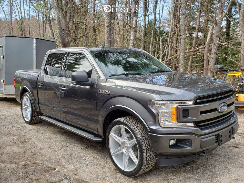 2019 Ford F-150 Flush on 24x10 30 offset KMC Km712 & 305/35 Ohtsu St5000 on Lowered on Springs - Custom Offsets Gallery
