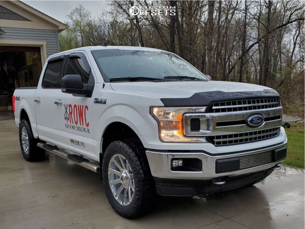 2019 Ford F-150 Slightly Aggressive on 20x9 20 offset Fuel Contra & 305/55 Nitto Ridge Grappler on Leveling Kit - Custom Offsets Gallery
