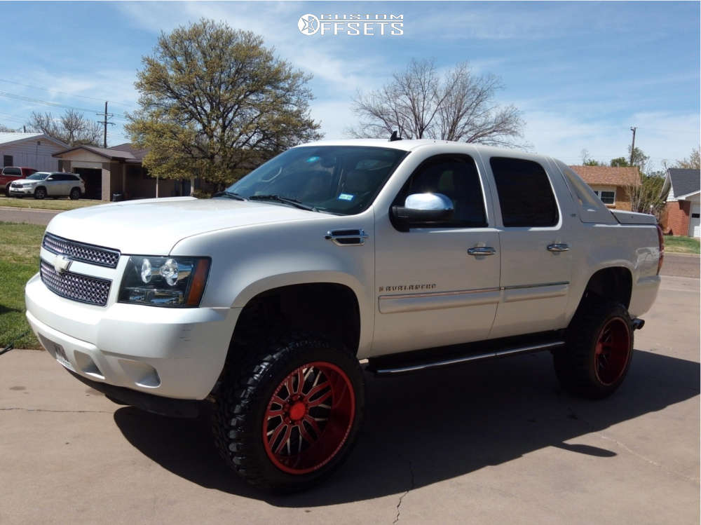 """2008 Chevrolet Avalanche 1500 Super Aggressive 3""""-5"""" on 22x12 -44 offset Axe Offroad Ax1.2 & 35""""x12.5"""" Radar Renegade R/7 on Suspension Lift 6"""" - Custom Offsets Gallery"""