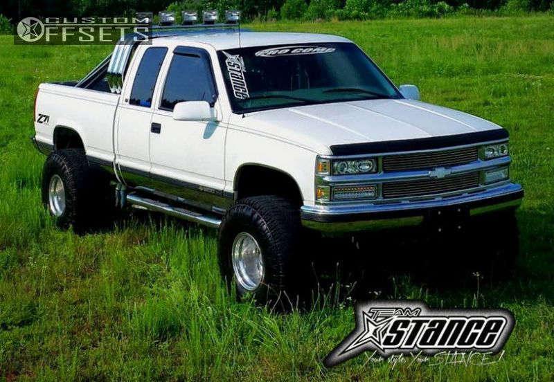 "1998 Chevrolet K1500 Super Aggressive 3""-5"" on 15x12 -73.66 offset Weld Racing T53 & 36""x14.5"" Super Swamper Trxus Mt on Suspension Lift 6.5"" - Custom Offsets Gallery"