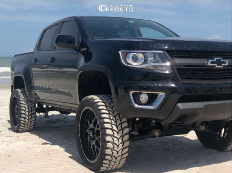 """2016 Chevrolet Colorado Aggressive > 1"""" outside fender on 22x9.5 15 offset XD Xd820 & 33""""x12.5"""" Crosswind M/t on Suspension Lift 6"""" - Custom Offsets Gallery"""