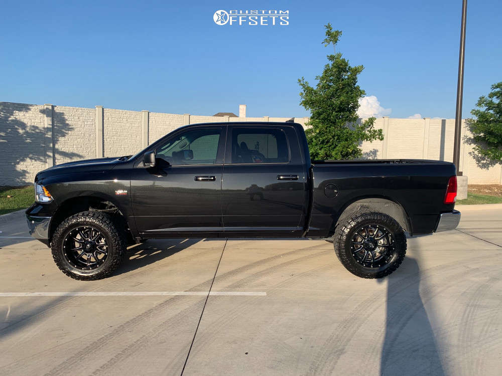 """2019 Ram 1500 Classic Aggressive > 1"""" outside fender on 20x10 -18 offset Fuel Vandal & 35""""x12.5"""" Nitto Ridge Grappler on Suspension Lift 4"""" - Custom Offsets Gallery"""