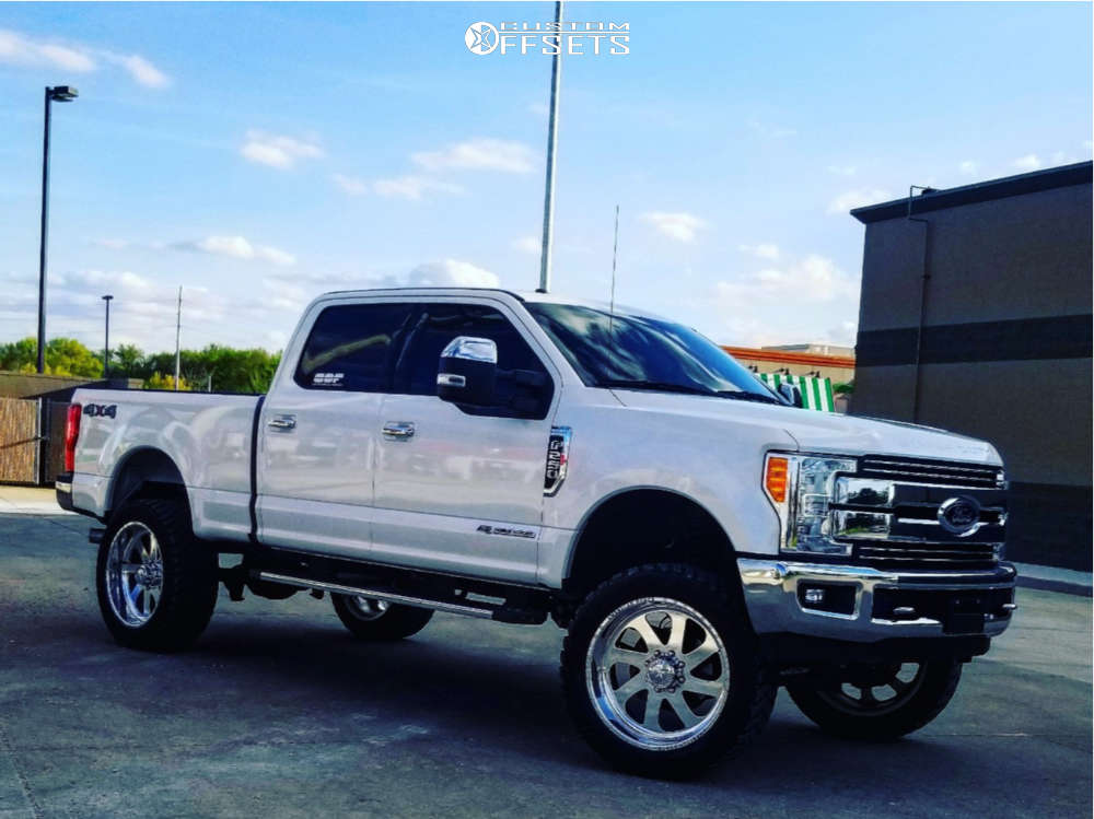 """2017 Ford E-250 Super Duty Aggressive > 1"""" outside fender on 24x12 -40 offset American Force Blade Ss and 37""""x13.5"""" Amp Mud Terrain Attack Mt A on Suspension Lift 6"""" - Custom Offsets Gallery"""