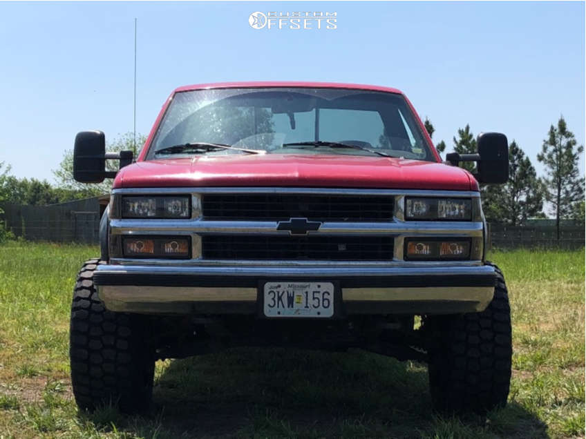 """1996 Chevrolet K3500 Super Aggressive 3""""-5"""" on 20x12 -44 offset Hostile Sprocket and 33""""x12.5"""" Ironman All Country Mt on Leveling Kit - Custom Offsets Gallery"""