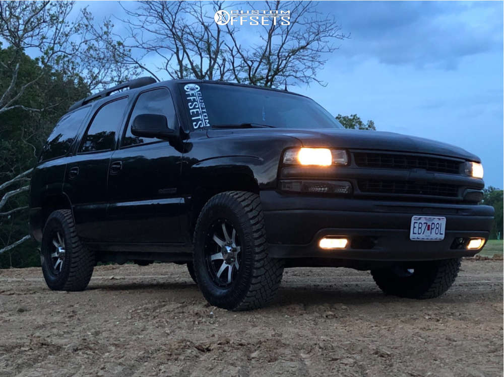 2002 Chevrolet Tahoe Slightly Aggressive on 17x9 -12 offset American Eagle 27 & 285/70 Atturo Trail Blade Xt on Stock Suspension - Custom Offsets Gallery