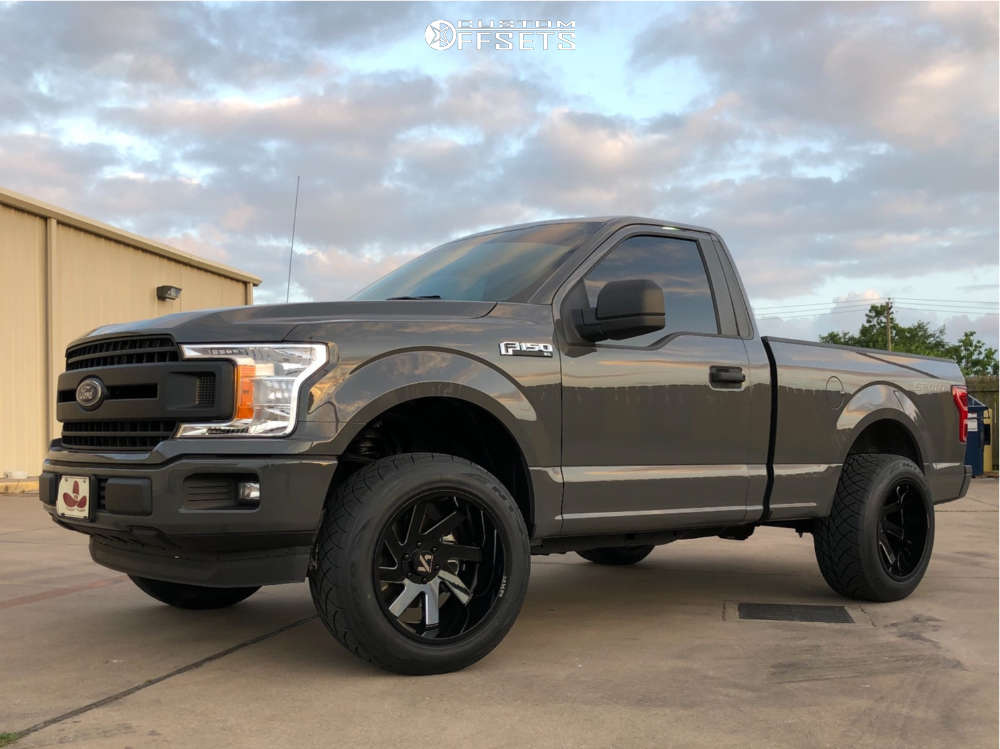 """2018 Ford F-150 Super Aggressive 3""""-5"""" on 20x12 -51 offset ARKON OFF-ROAD Lincoln and 305/50 Nitto Nt420s on Leveling Kit - Custom Offsets Gallery"""